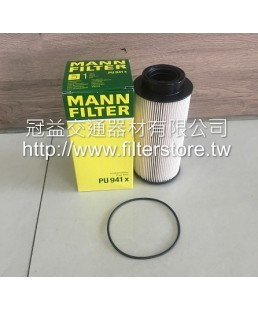 SCANIA 四期 沒塑膠 5缸 柴油芯 柴油濾清器 PU941X 1873018