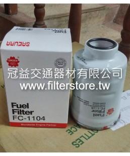 TOYOTA 5F 6F 7F 8F堆高機 柴油芯 柴油濾清器 23303-64010 FC-1104 D800
